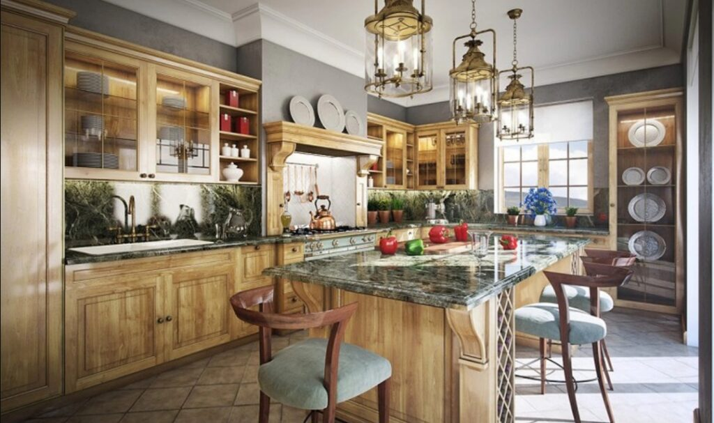 красивая винтажная кухня фото