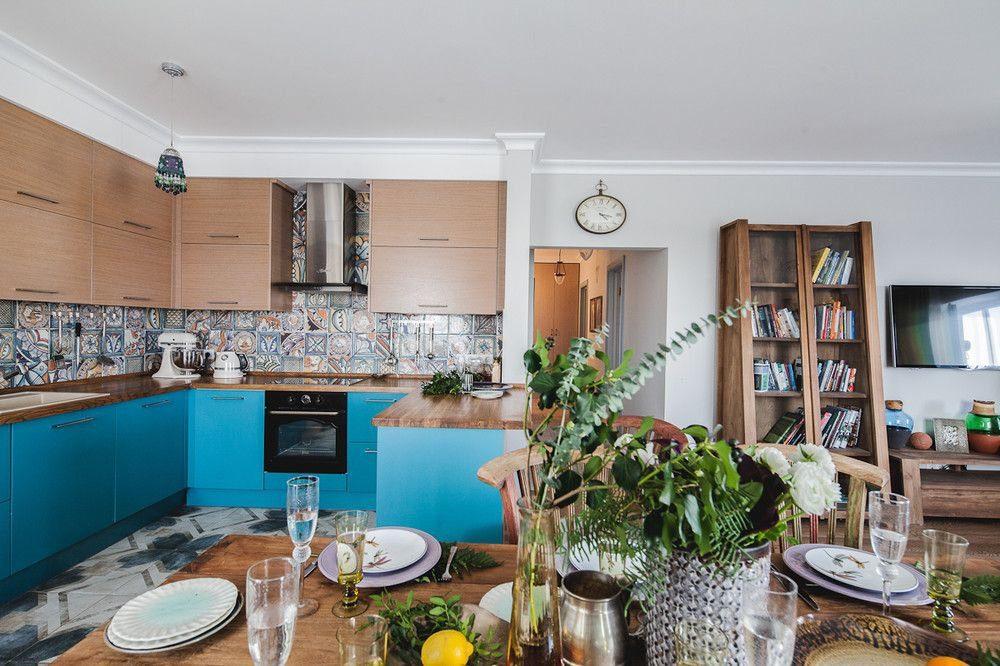синяя кухня фьюжн