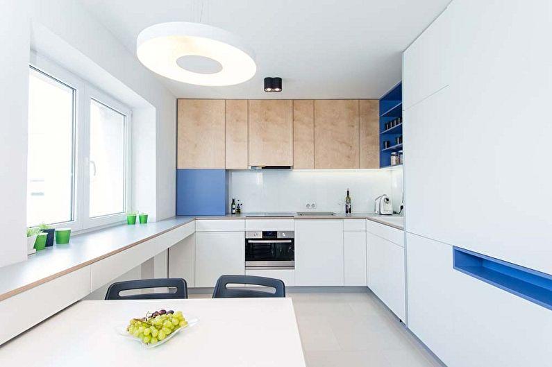 светлая кухня дизайн минимализм