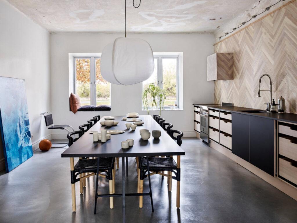 контемпорари кухня реальные фото интерьера