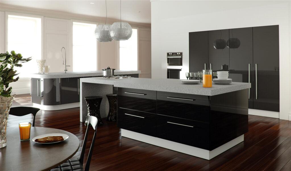 кухня в черный тонах