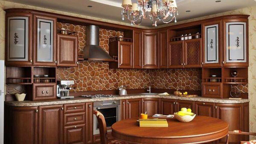 фото кухня в коричневом, классическом стиле