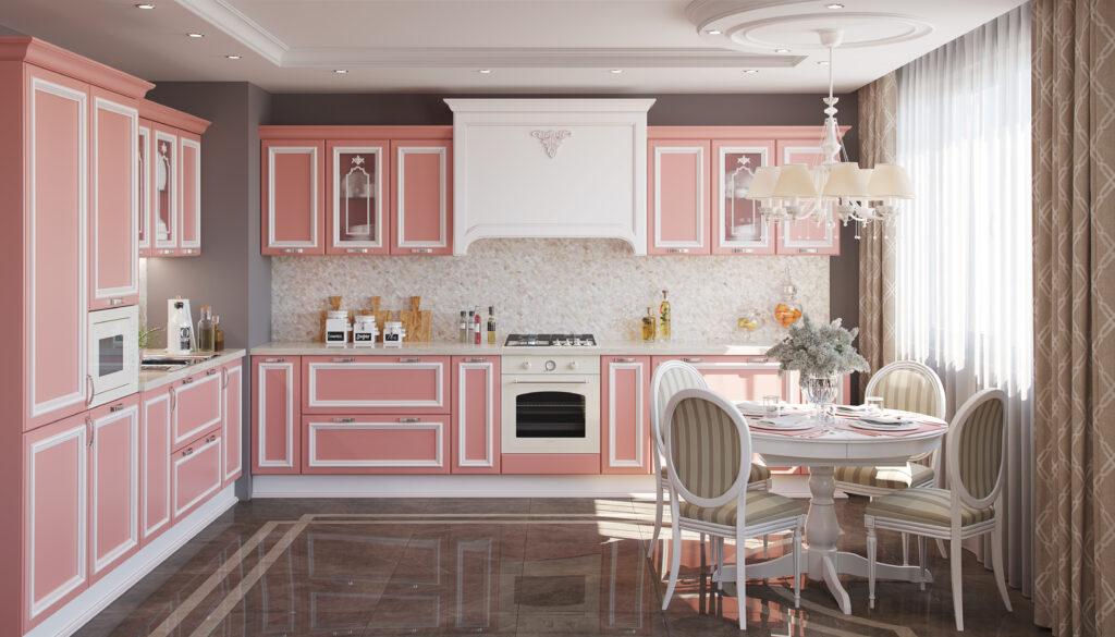 кухня версаль в нежном цвете