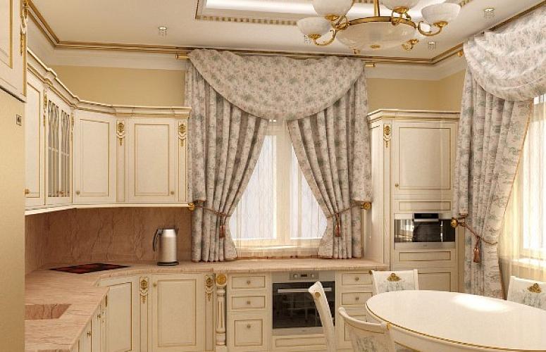 шторы для кухни в стиле бороко
