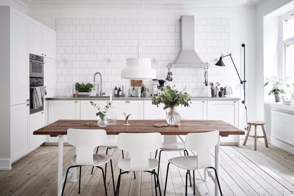 скандинавская кухня фото интерьера