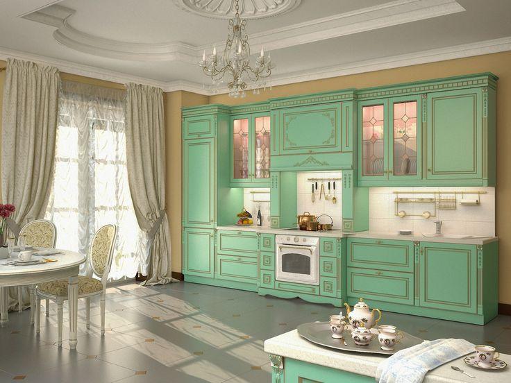 кухня версаль в зелёном цвете