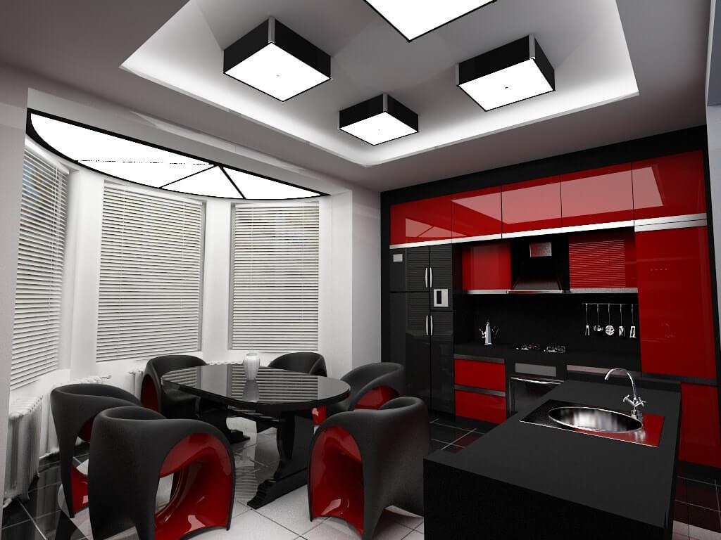 красная кухня техно
