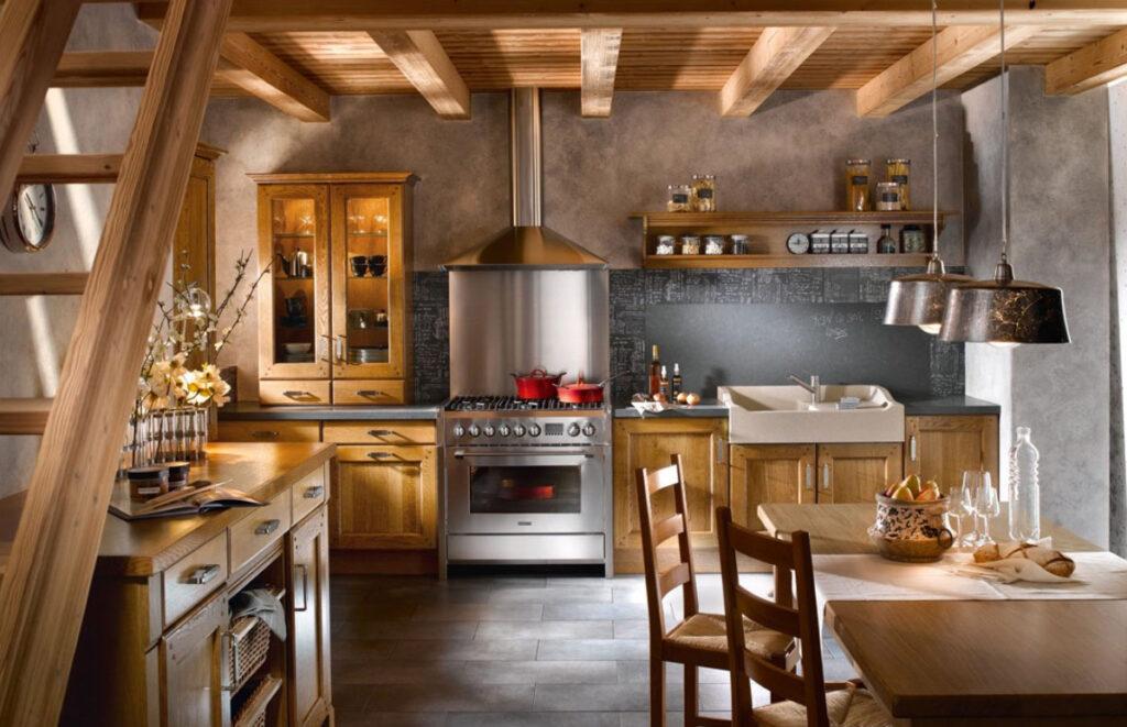 современная кухня в стиле рустик