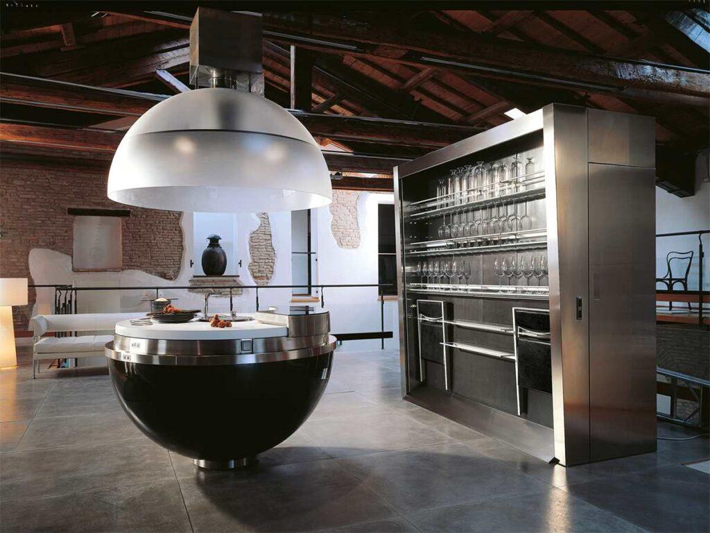 большая техно кухня